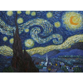 Vincent Van Gogh - Starry Night (Hand-Painted)