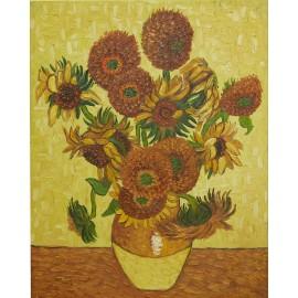 Vincent Van Gogh - Sunflowers (Hand-Painted)