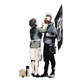 Banksy - Anarchist and Mother (Hand-Painted Reproduction)