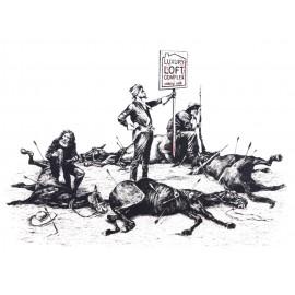 Banksy - Luxury Loft Massacre (Hand-Painted Reproduction)