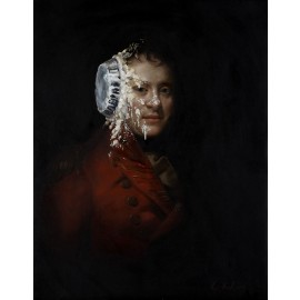 Banksy - Pie Face (Hand-Painted Reproduction)