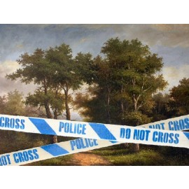 Banksy - Police Do Not Cross Tape (Hand-Painted Reproduction)