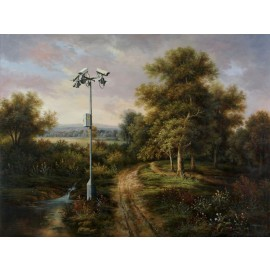 Banksy - Countryside CCTV (Hand-Painted Reproduction)