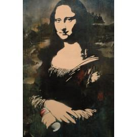 Blek Le Rat - Mona Lisa (Hand-Painted Reproduction)