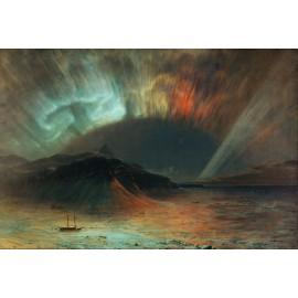 Frederic Edwin Church - Aurora Borealis (Hand-Painted)