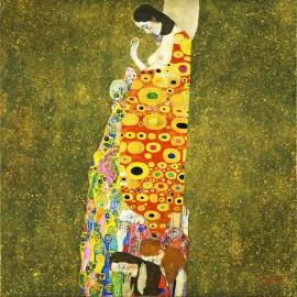 Gustav Klimt - Hope (Hand-Painted)