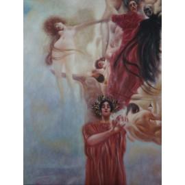 Gustav Klimt - Medizin (Hand-Painted)