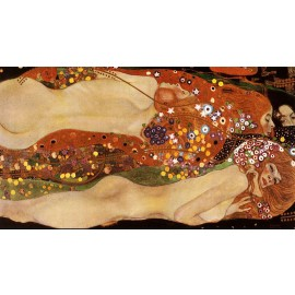 Gustav Klimt - Water Serpents (Hand-Painted)