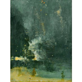 James Abbott McNeill Whistler - Nocturne in Black and Gold (Hand-Painted)