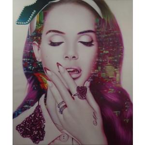 Lana Del Rey - La La Land by Cam Nguyen (Hand-Painted Limited Edition)