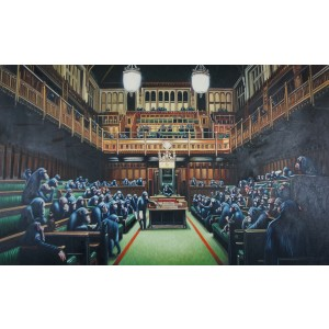Banksy - Devolved Parliament (Hand-Painted Reproduction)