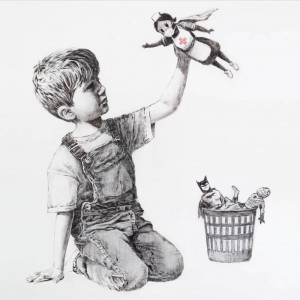 Banksy - Game Changer (Covid Heroes Hand-Painted Reproduction)