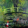 Banksy - Monet Japanese Bridge (Hand-Painted Reproduction)